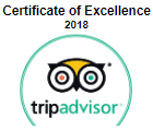trip advisore certificate of excellentce 2018